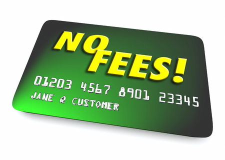 borrowing: No Fees Credit Card Interest Penalty 3d Illustration