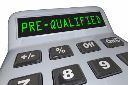 Vor-Qualifizierte Illustration des Kredit-Hypotheken-Taschenrechners 3d Standard-Bild - 81560831