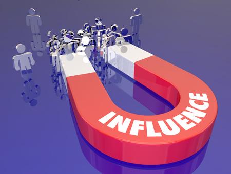Influence Persuasion Power Aimant Gens Illustration 3d Banque d'images - 81560832