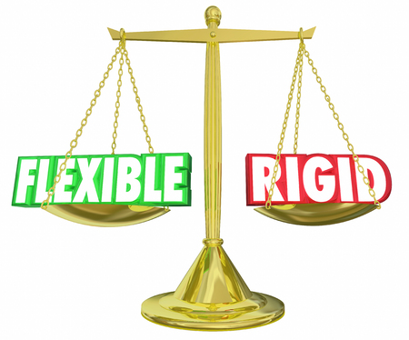 flexible: Flexible Vs Rigid Scale Weighing Options 3d Illustration