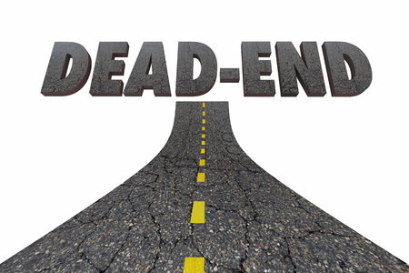 Dead End Road Word Street 3d Illustration
