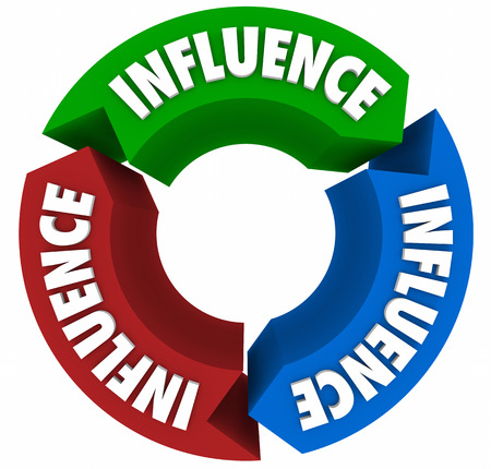 clout: Influence Cycle Arrows Circle 3d Illustration Stock Photo