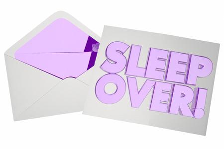 Sleepover Invitation Envelope Party Invite 3d Illustration
