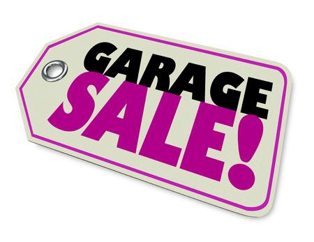 Garage Sale Prijskaartje Verkoop 3d Illustratie