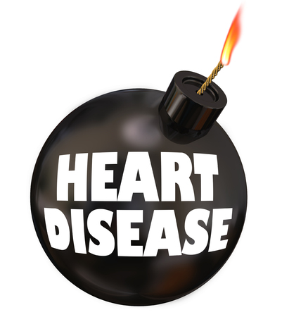 Heart Disease Cardiovascular Bomb Danger Warning 3d Illustration