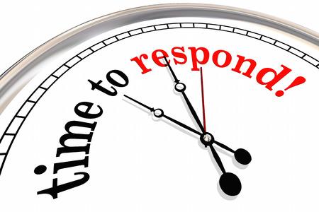 対応クロック応答時間サービスの 3 d 図