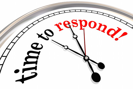 Time to Respond Clock Responsive Service 3d Illustration Stock Illustration - 81560889