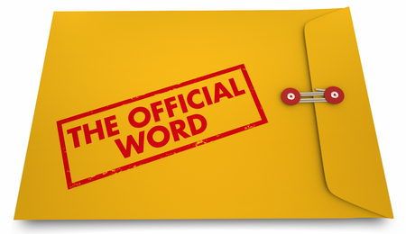 The Official Word Answer Response Envelope 3d Illustration