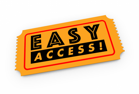 Easy Access Ticket Pass Admission 3d Illustration