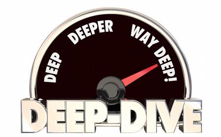 深いダイビングより深く詳細スピード メーター レベルの 3 d 図