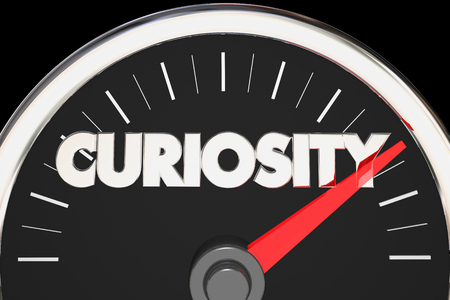 Curiosity Speedometer Curious Level Gauge Interest 3d Illustration