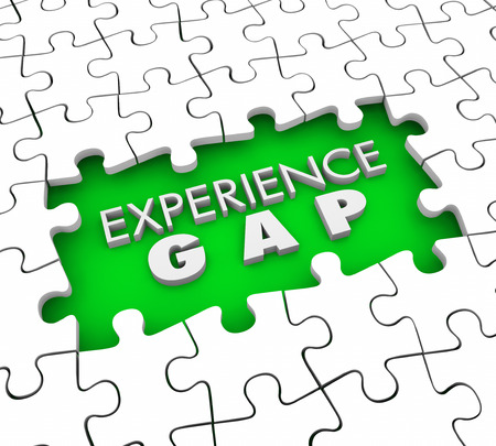 hole: Experience Gap Puzzle Pieces Hole Lacking Qualifications 3d Illustration