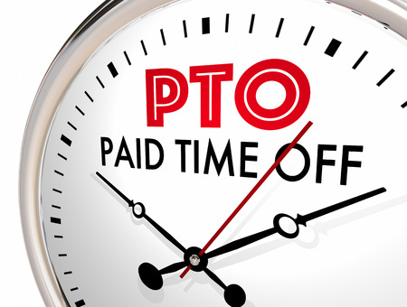 PTO Paid Time Off Clock Vacation Hours Leave 3d Illustration Stock fotó - 81658238