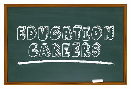Education Careers Chalk Board Teaching Jobs 3d Illustration Фото со стока