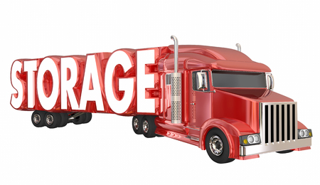 Storage Truck Hauler Container Storing Property Transportation 3d Illustration Stock Photo