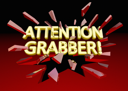 Attention Grabber Words Breaking Glass Exposure 3d Illustration
