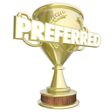 Preferred Trophy Prize Award Most Recommendations 3d Illustration