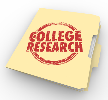 College Research School University Information Folder 3d Illustration