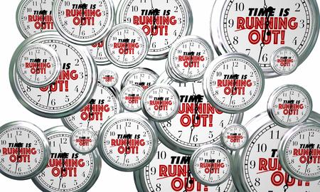 Il tempo sta correndo gli orologi che volano entro l'illustrazione di ricordo 3d di scadenza Archivio Fotografico - 82439700