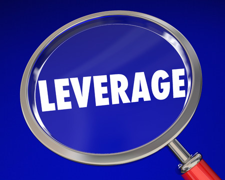 leverage: Leverage Magnifying Glass Influence Power 3d Illustration Stock Photo