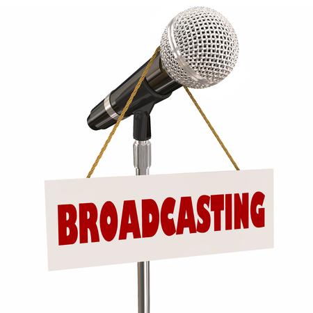 gente comunicandose: Radiodifusión Microhpone Sign Media Anunciador Anchor Host 3d Ilustración