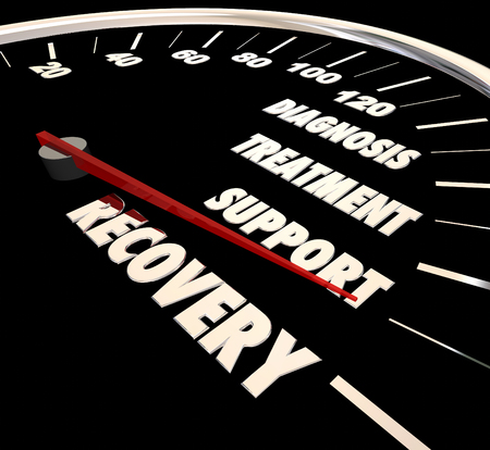 Recovery Diagnosis Treatment Support Speedometer 3d Illustration