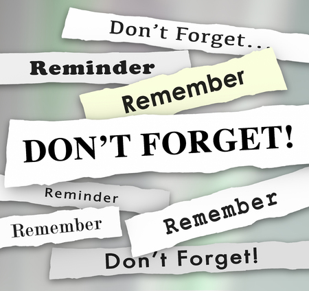 Dont Forget Remember Important Reminder Headlines 3d Illustration