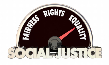 civil rights: Social Justice Levels Equality Fairness Civil Rights 3d Illustration