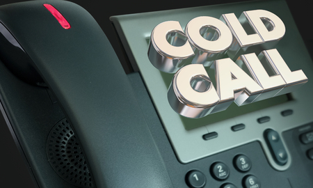 Cold Call Telephone Selling Telemarketing 3d Illustration