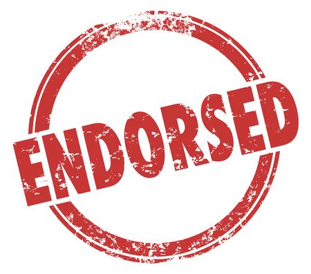 Endorsed Stamp Product Endorsement Approval Illustration