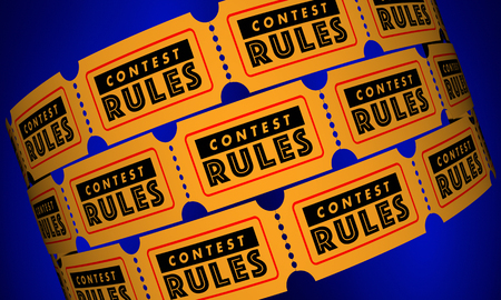 Contest Rules Eligibility Requirements Tickets 3d Illustration Imagens