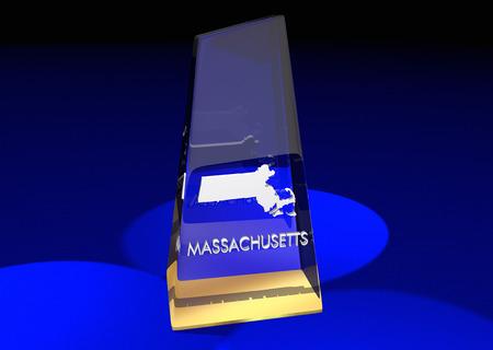 Massachusetts MA State Award Best Top Prize 3d Illustration