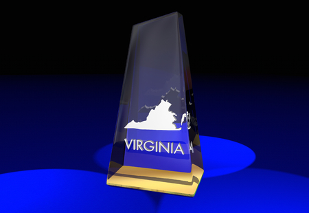 3d virginia: Virginia VA State Award Best Top Prize 3d Illustration Stock Photo