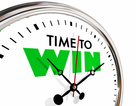 Time to Win Succeed Successful Clock Hands Ticking 3d Illustration Stock Photo
