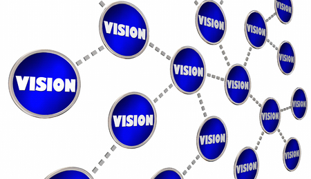 shared sharing: Vision Leadership Passion Connected Circle Network 3d Illustration