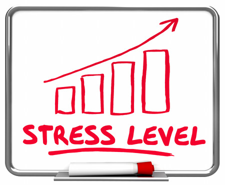 Stress Level Overworked Arrow Rising Workload 3d Illustration