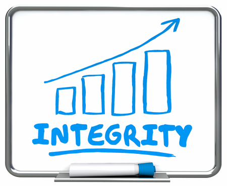 Integrity Reputation Honesty Arrow Rising Trend 3d Illustration