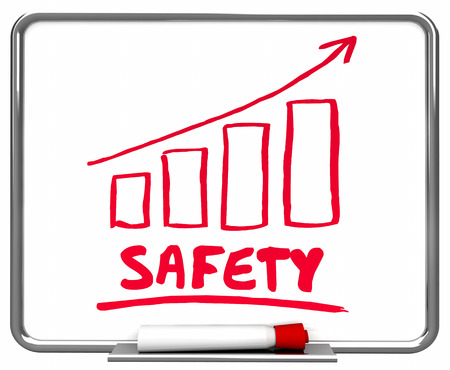 Safety Improvement Arrow Rising Trend 3d Illustration Фото со стока