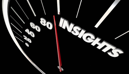 洞察力知能情報スピード メーター測定結果の 3 d 図 写真素材