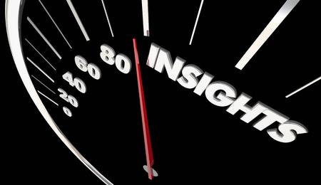 Insights Intelligence Information Speedometer Measure Results 3d Illustration