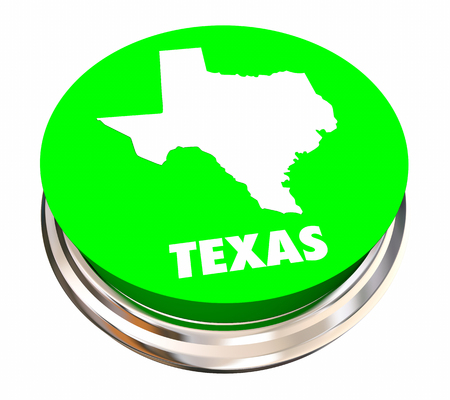 tx: Texas TX State Button Best Location Choice 3d Illustration
