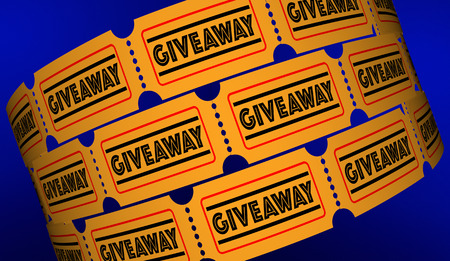 Giveaway Gratis Cadeau Aanbieding Premium Tickets 3D Illustratie Stockfoto