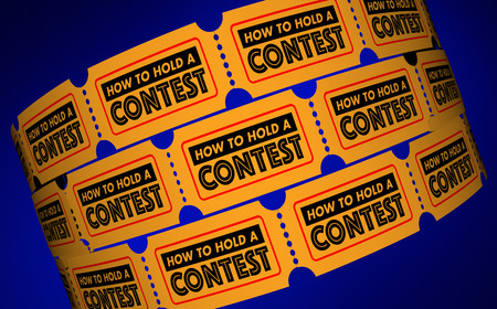 word: How to Hold a Contest Competition Information Tickets 3d Illustration Stock Photo