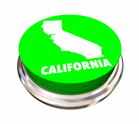 California CA State Button Best Location Choice 3d Illustration