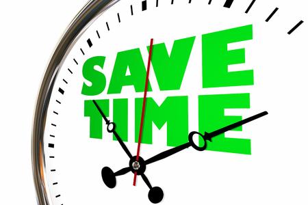 Save Time Savings Management Clock Hands Ticking 3d Illustration Stock Photo