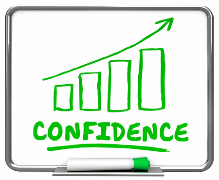 Confidence Self Assured Confident Arrow Rising Trend 3d Illustration
