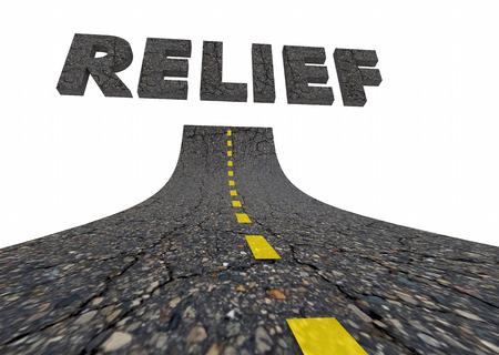 救済ヘルプ支援サポート道言葉 3 d イラストレーション