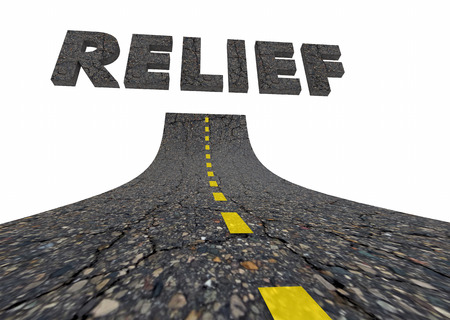 Relief Help Assistance Support Road Words 3d Illustration