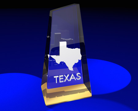 Texas TX State Award Best Top Prize 3d Illustration