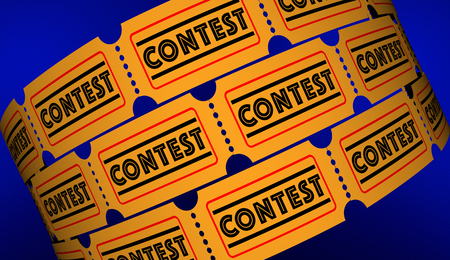 Contest Competition Enter to Win Tickets 3d Illustration Stock Illustration - 83926542